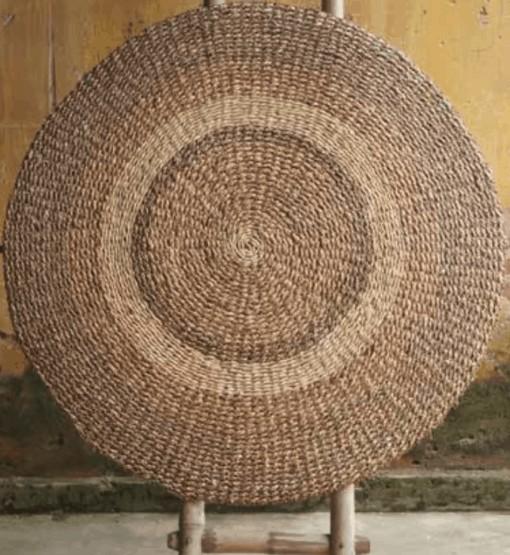 Covor rotund Mekong XXL din zambilă de apă
