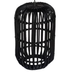 Abajur negru din ratan Ambon