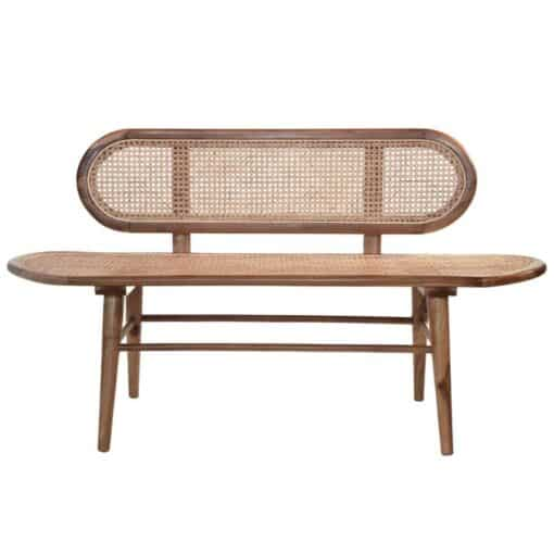 Canapea din ratan si lemn