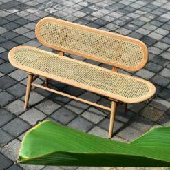 Canapea din ratan si lemn Baning