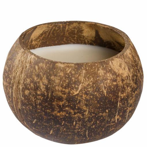 Lumanare in nuca de cocos cu parfum de vanilie