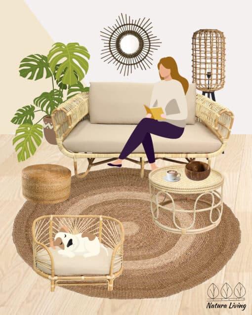 Piese mobilier din ratan pentru living room