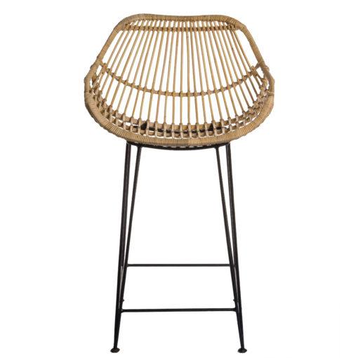 Alege scaun bar din ratan cu picioare metalice Moyo.