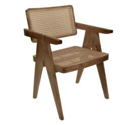Scaun din lemn si ratan Raas