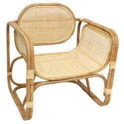 Alege scaun lounge din ratan Bali pentru relaxare continuă.