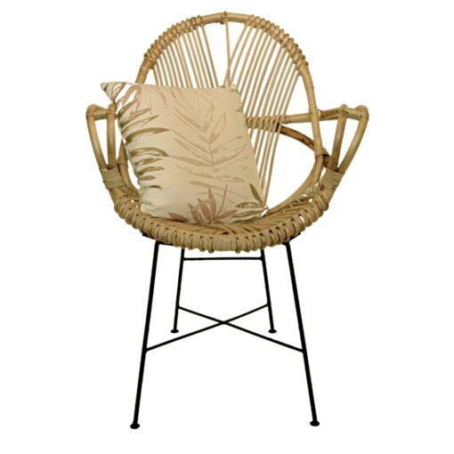 Scaun lounge din ratan natural
