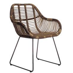 Scaun lounge din ratan cu picioare metalice Batu