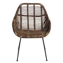 Alege scaun lounge din ratan cu picioare metalice Batu.