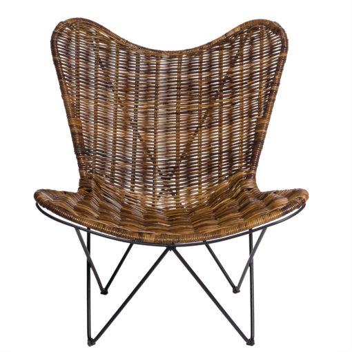 Alege scaun lounge din ratan cu picioare metalice Lembata.