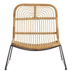 Alege scaun lounge din ratan cu picioare metalice Makole.
