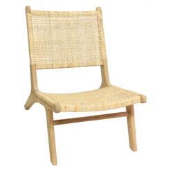 Alege un scaun stylish din ratan și lemn.