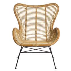 Alege scaun lounge egg din ratan cu picioare metalice Natuna.