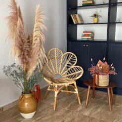 Scaun lounge flower din ratan Muari